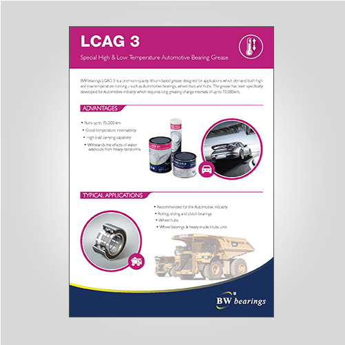 BWbearings LCAG3 Automotive Grease