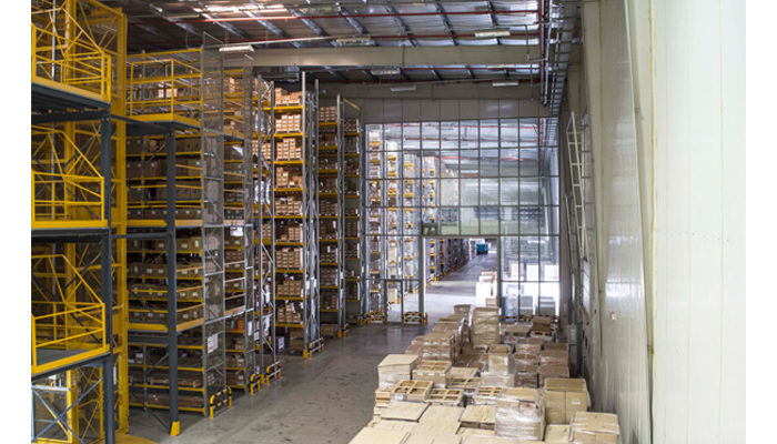 warehouse racking side
