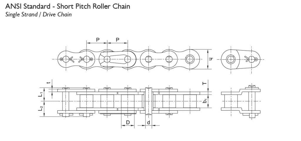 BW roller chain ANSI