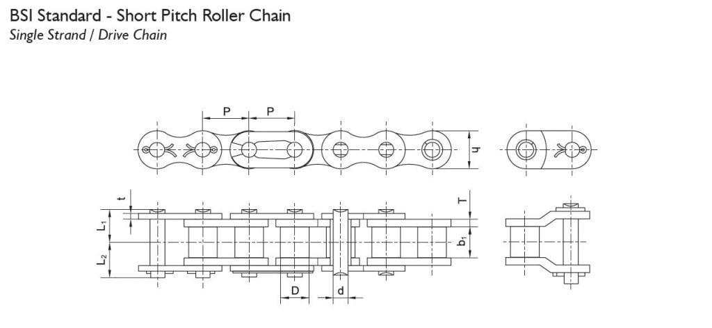 BW roller chain BSI