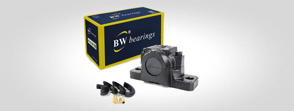 BW SNL plummer block with box and accessories