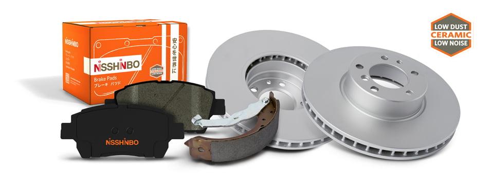 Nisshinbo brakes with ceramic icon
