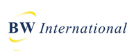 BW International logo swing banner