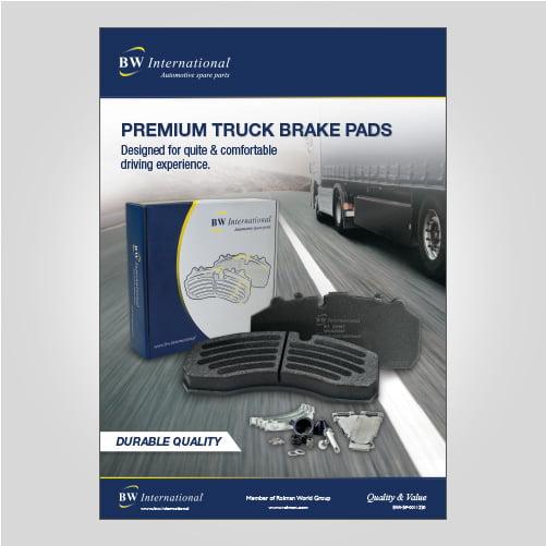 bw truck brake pads